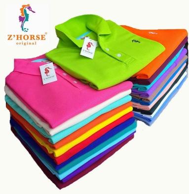 เสื้อโปโล ยี่ห้อ zhorse (ม้าน้ำ) ขายส่ง ราคาถูก สินค้าขายดี ในตลาด แบบเสื้อ โปโล เสื้อคอปก สินค้าส่งออก ในไทย